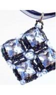Zirkónia nyaklánc, kék
