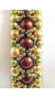Mini Shérazade karkötő, óarany-barna-zöld