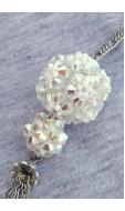 Virággömb lánc, crystal 2ab