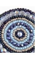 Mandala nyaklánc, kék