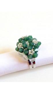 Tetra gyűrű, zöld