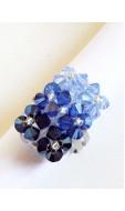 Tégla gyűrű, kék