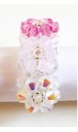 Trió gyűrű, rózsa mix