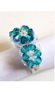 Trió gyűrű, blue zirkon