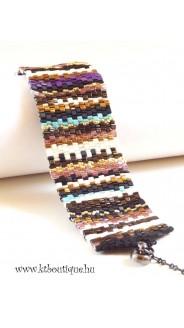 Rongyszőnyeg karkötő, színes