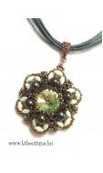 Perzsa medál, zöld-bronz