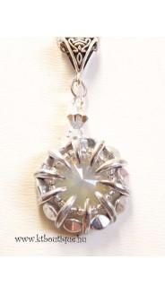 Opálos nyaklánc, sand opal-ezüst