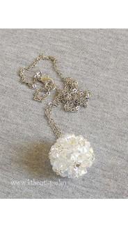 Virággömb nyaklánc, crystal ab