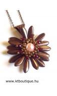 Margherita nyaklánc, bronz-rózsaszín