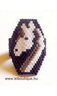 Unikornis gyűrű, fekete-fehér