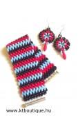 SD Csíkos szett, fekete-kék-piros