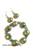 Friss fű ékszerszett, peridot-smaragd-cry vitrail medium