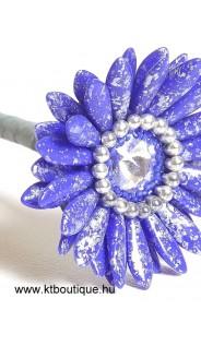 Gerbera, kék-ezüst