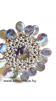 Daisy gyűrű, ezüst