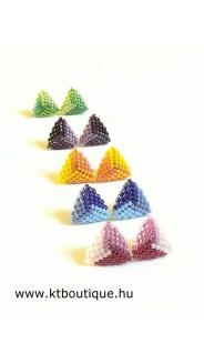 Mini háromszög fülbevalók, 3 db-os készlet