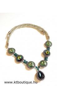 Friss fű nyakék, peridot-smaragd-cry vitrail medium